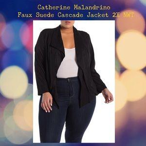 Catherine Malandrino Faux Suede Jacket NWT Sz. 2X